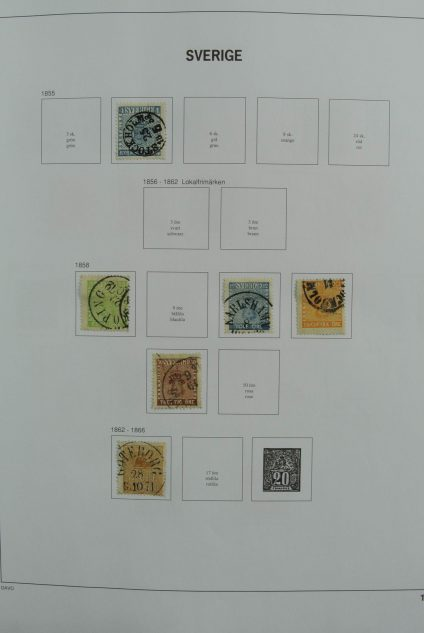 Stamp collection 27125 Sweden 1855-2011.