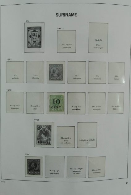 Stamp collection 27153 Suriname 1900-1990.