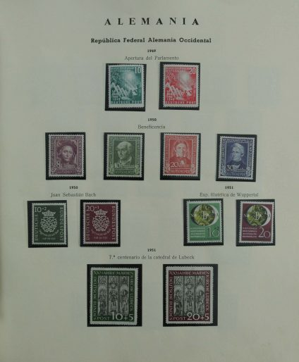 Stamp collection 27174 Bundespost 1949-1977.