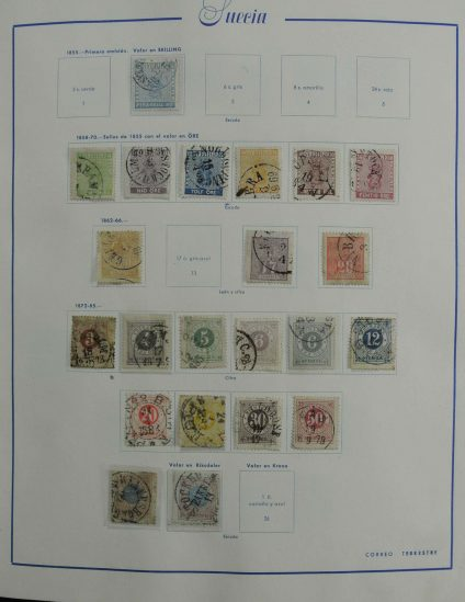 Stamp collection 27175 Sweden 1855-1997.