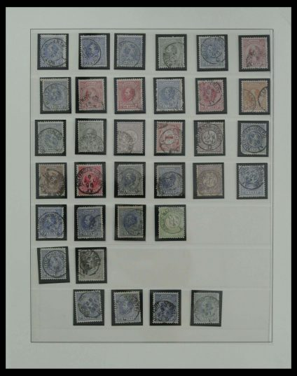Stamp collection 27202 Netherlands smallround route cancels.