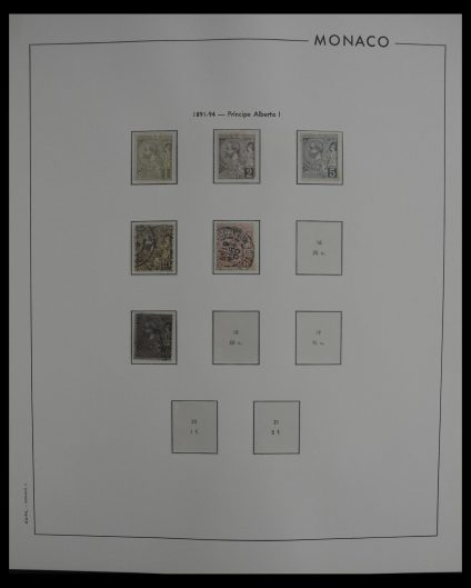 Stamp collection 27252 Monaco 1891-1992.