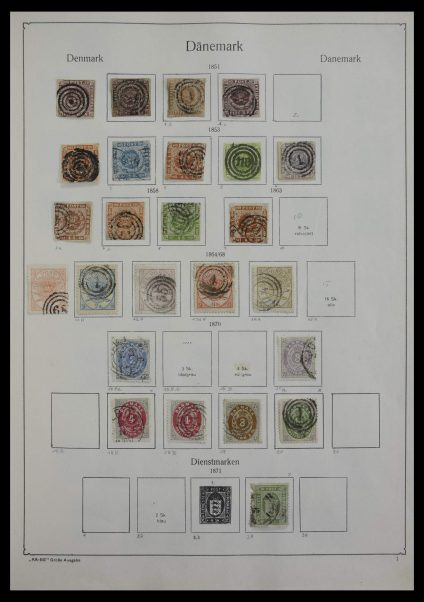 Stamp collection 27300 Denmark 1851-1994.