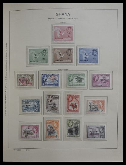Stamp collection 27341 Ghana 1957-1990.