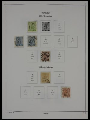 Stamp collection 27380 Sweden 1858-1976.