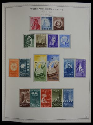 Stamp collection 27389 Egypt 1958-1998.