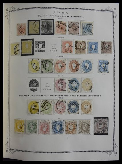 Stamp collection 27396 Austria 1850-1976.