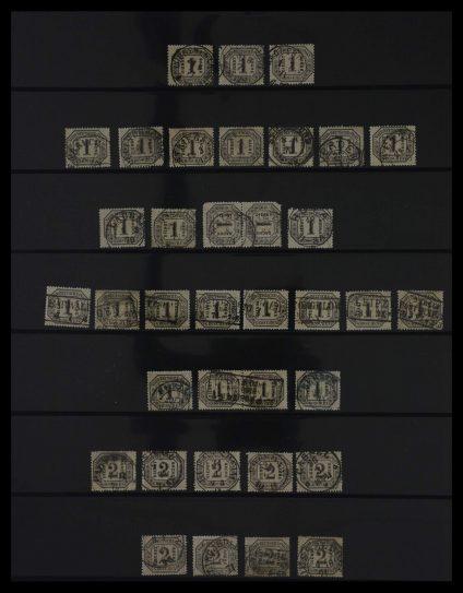 Stamp collection 27406 Norddeutscher Postbezirk 1868-1870.