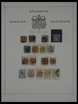 Stamp collection 27442 Denmark 1851-1902.