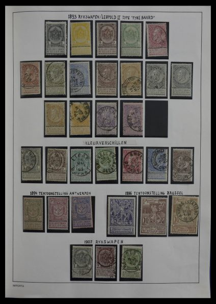 Stamp collection 27474 Belgium 1893-1972.