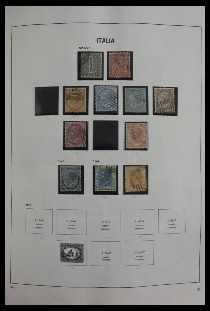 Stamp collection 27478 Italy 1863-1980.