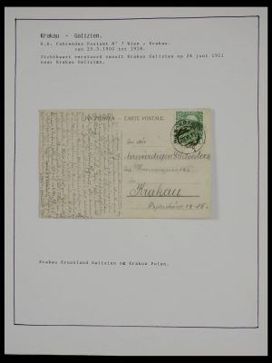 Stamp collection 27524 Austria railroad post and station cancels.