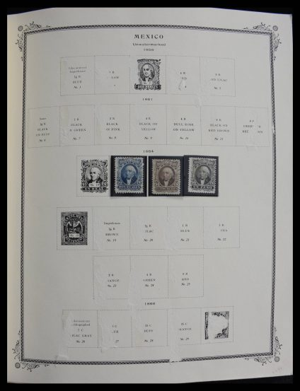 Stamp collection 27568 Mexico 1863-1987.