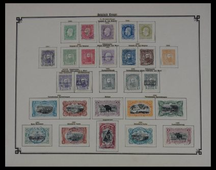Stamp collection 27596 Belgian Congo 1886-1910.