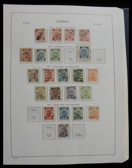 Stamp collection 27629 Latvia 1918-2010!!