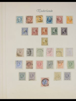 Stamp collection 27654 Netherlands 1852-1896.