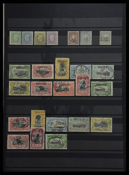 Stamp collection 27701 Belgian Congo 1886-1909.