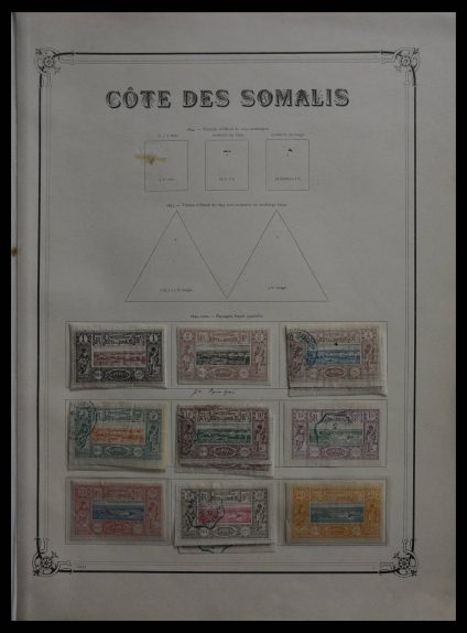 Stamp collection 27760 French Somalia 1894-1941.