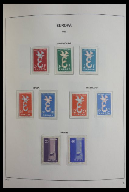 Stamp collection 27767 Europa CEPT 1956-2001.