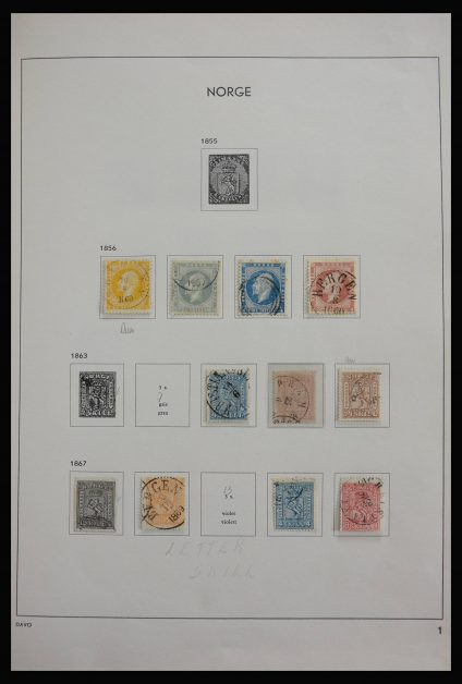 Stamp collection 27798 Norway 1856-1999.