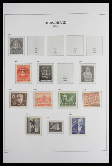 Stamp collection 27830 Berlin 1954-1990.