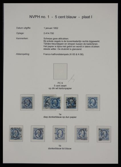 Stamp collection 27855 Netherlands issue 1852.
