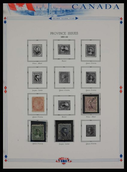Stamp collection 27887 Canada 1851-1972.