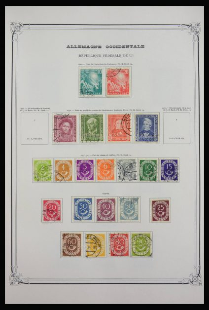 Stamp collection 27888 Bund and Berlin 1949-1987.