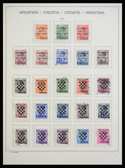 Stamp collection 27909 Croatia 1941-1999.