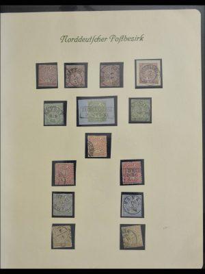 Stamp collection 27917 Norddeutscher Postbezirk 1868-1870.