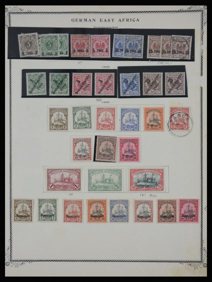 Stamp collection 27936 German East Africa  1893-1918.