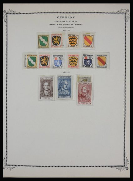 Stamp collection 27942 French Zone and Berlin 1945-1960.
