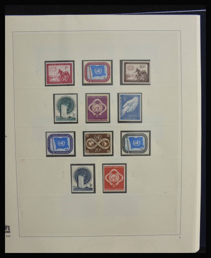 Stamp collection 28120 United Nations 1951-2010.