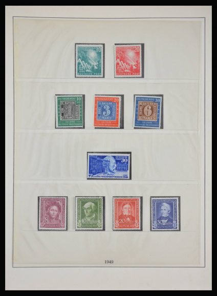 Stamp collection 28125 Bundespost 1949-1959.