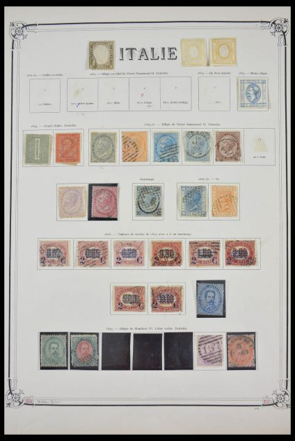 Stamp collection 28130 Italy 1862-1957.