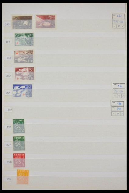Stamp collection 28236 Finland 1945-1993.
