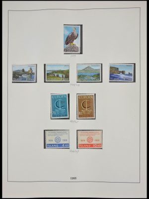 Stamp collection 28243 Scandinavia 1965-1987.