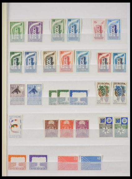 Stamp collection 28287 Europe CEPT 1956-1971.