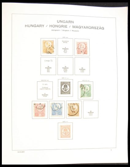 Stamp collection 28300 Hungary 1871-1980.