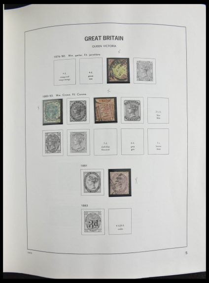 Stamp collection 28318 Great Britain 1858-1996.