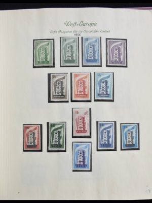 Stamp collection 28356 Europa Cept ultra specialised collection 1942-1984.