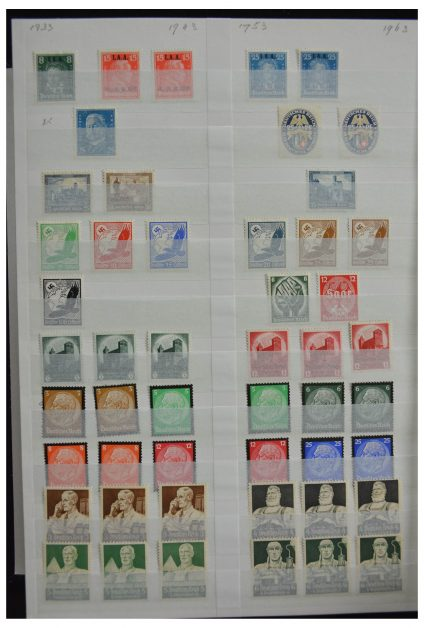 Stamp collection 28378 German Reich mint hinged and used.