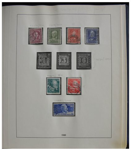 Stamp collection 28387 Bundespost 1949-1974.