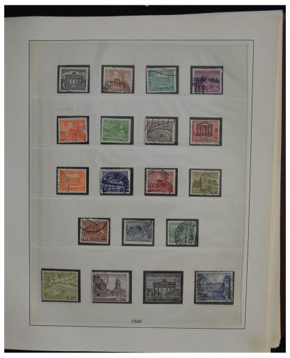 Stamp collection 28388 Berlin 1948-1980.