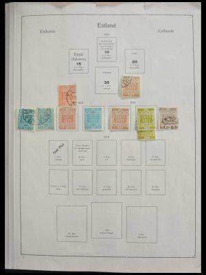 Stamp collection 28433 Baltic States 1918-1940.