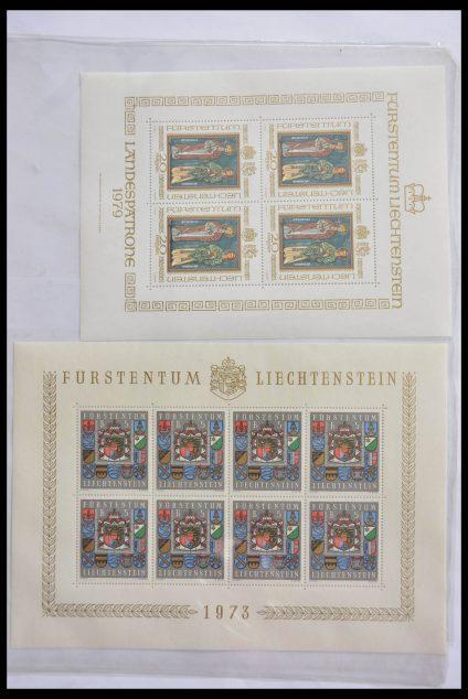 Stamp collection 28472 Liechtenstein 1973-1985.