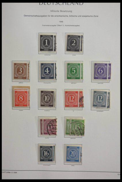 Stamp collection 28580 German Zones 1945-1949.