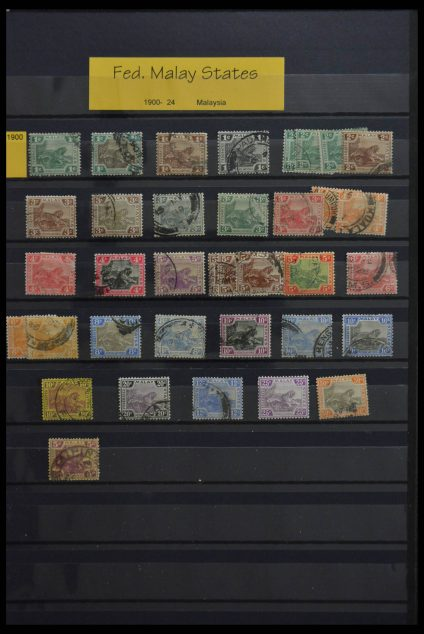 Stamp collection 28594 Malaysian States.
