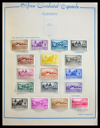 Stamp collection 28619 Spanish colonies 1903-1963.