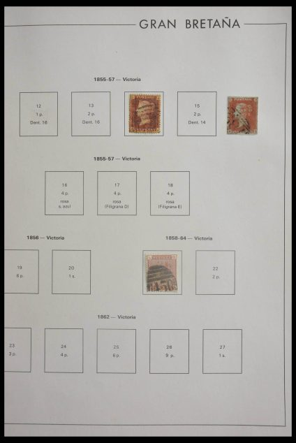 Stamp collection 28621 Great Britain 1965-2003.